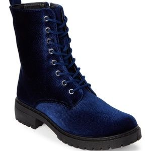 Velvet Patrol Combat Ankle Boots 6.5 Wanted Brand